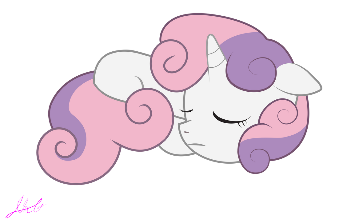 Sweetie Belle Sleeping by Al3xGuerra