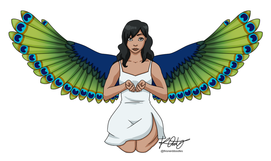 Peacock Angel by thisnerddoodles