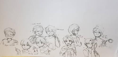 Smurfs(boy) humanization sketches by Daf902500