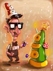 Merry Tentacle Christmas by bigjko
