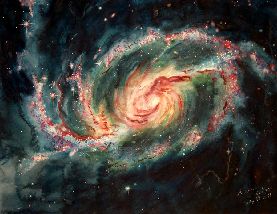 Unusual Spiral Galaxy by Celeste23forever