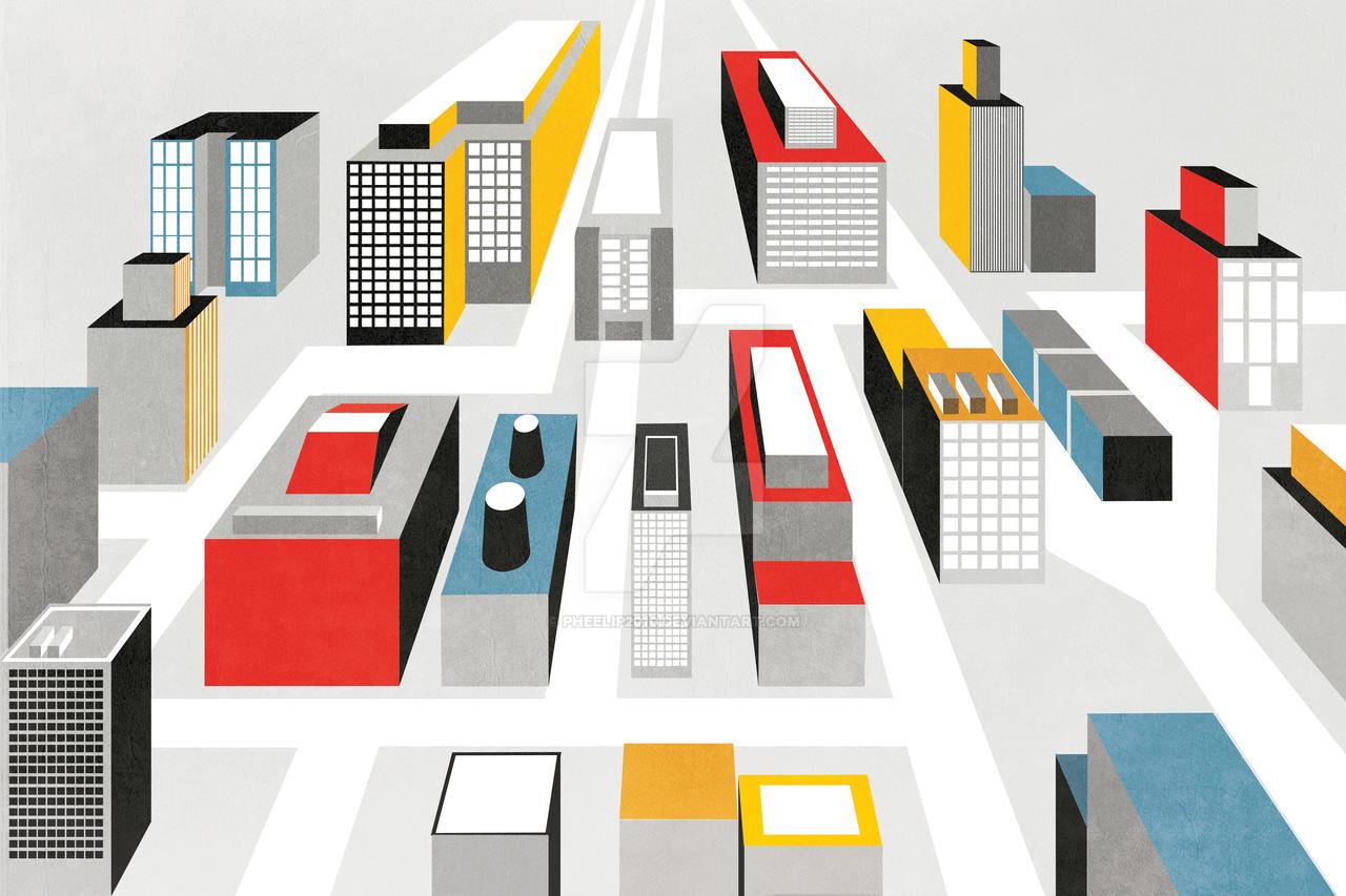 Cityscape Wordplay by Pheelip2010
