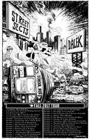 STREET SECTS Tour Poster BW by huseyinozkan