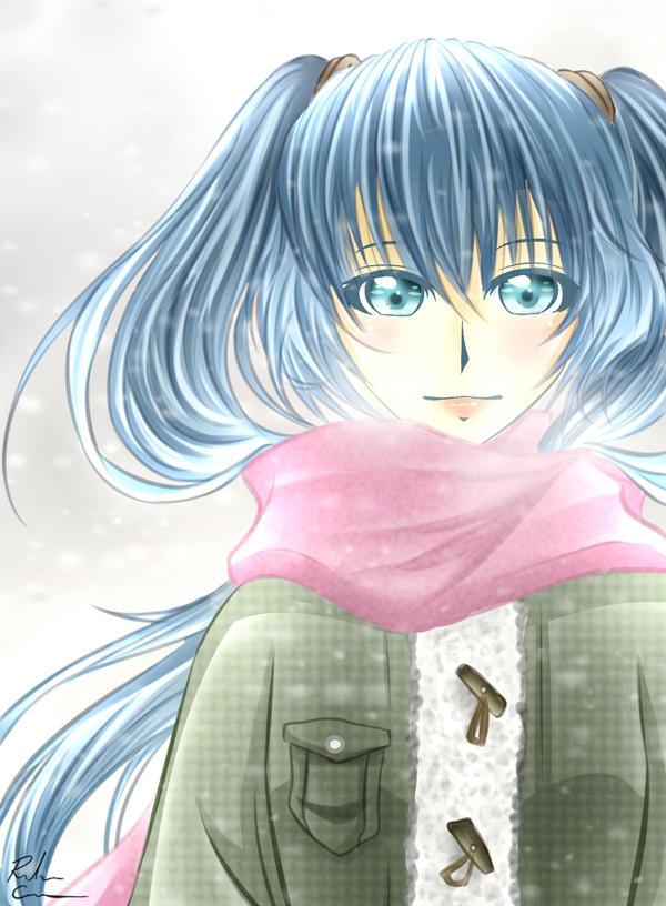 Hatsune Miku: Snow by Rebecka-chan