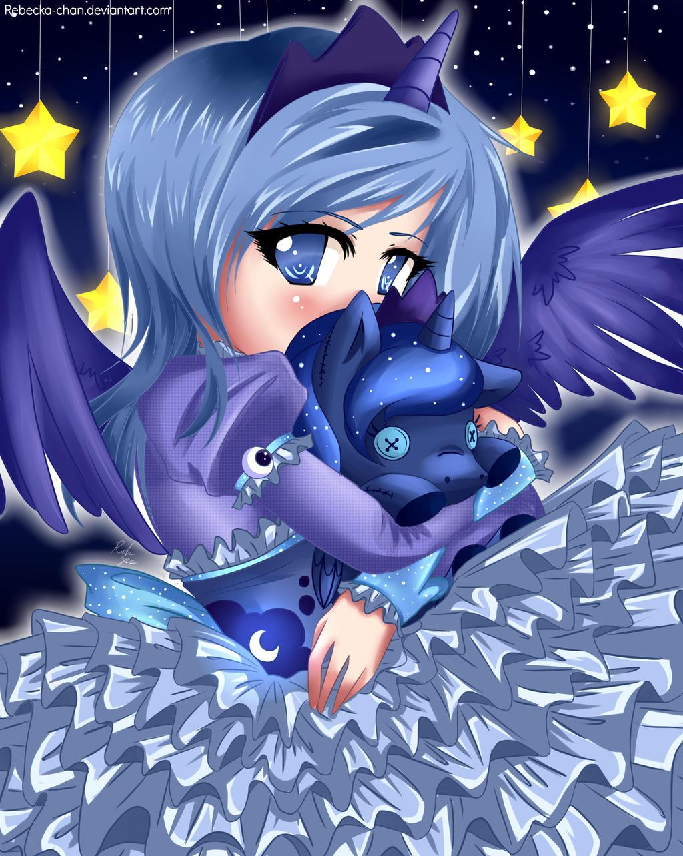 GIFT -Human Princess Luna- by Rebecka-chan