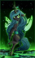 COLLAB - Queen Chrysalis by Rebecka-chan