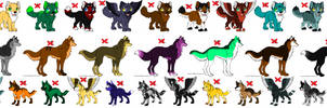 Closed ~ FREE wolf adoptables part 1