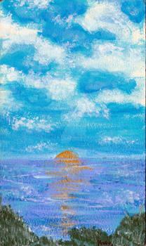 Acrylic Skyline Sketch