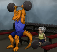 Rosie and Donaar Hit the Gym