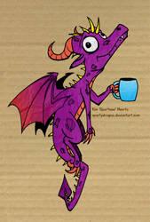 Office Dragon by spartydragon