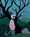 Mara in the Rain by spartydragon
