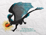 Sparty has a Pumpkin by spartydragon