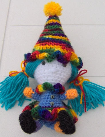 Baba the Clown - Amigurumi by ChezMichelle