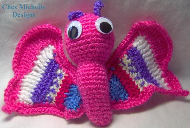 Esmeralda Butterfly amigurumi by ChezMichelle on deviantART