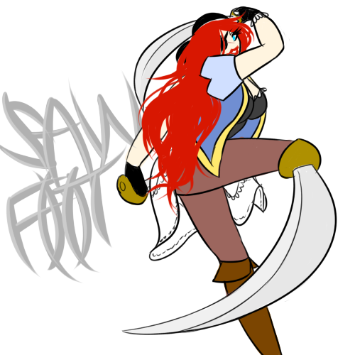 Saw-Foot, The Buccaneer Beauty by NuclearPrinter