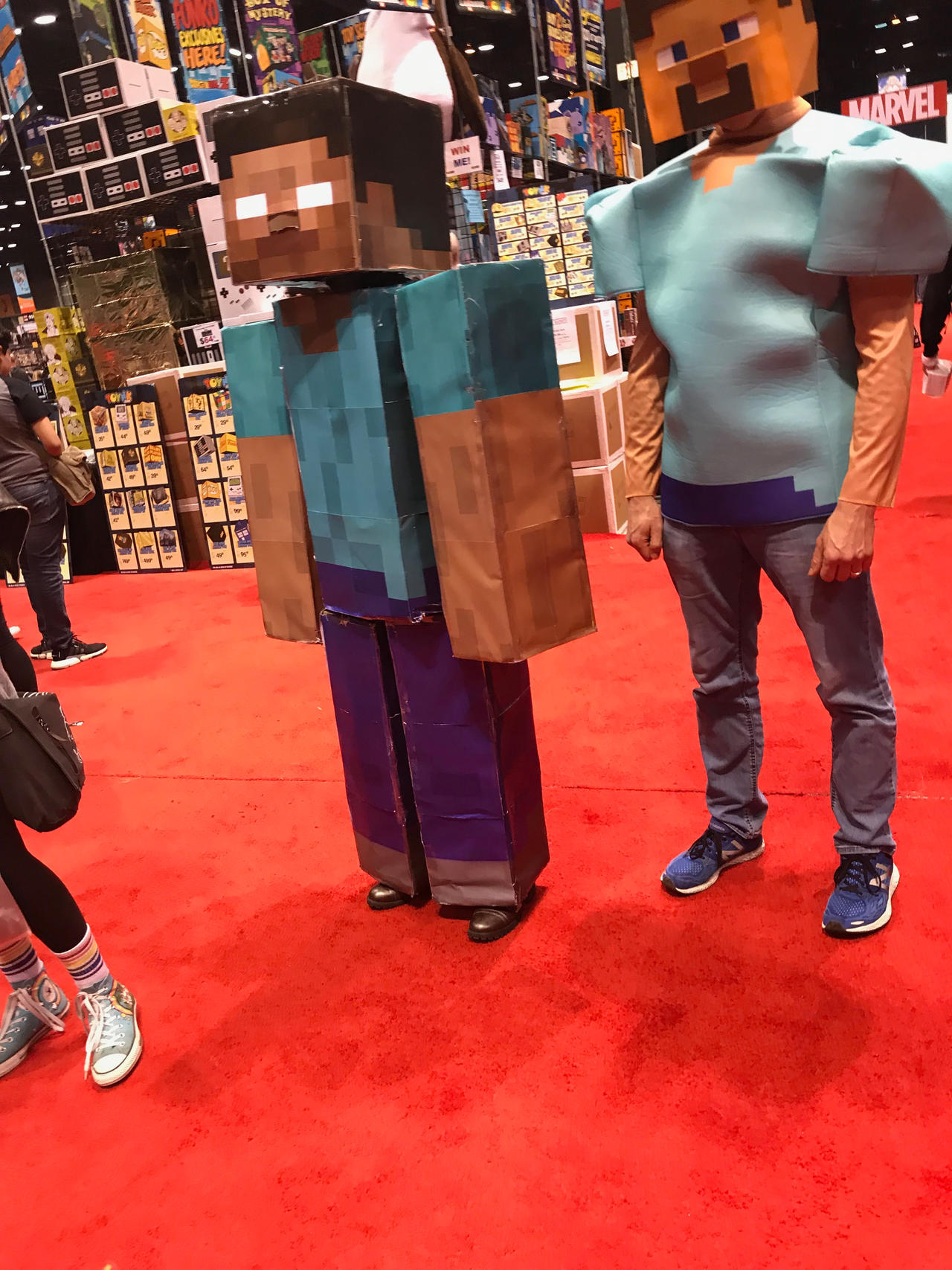 Steve And Herobrine Cosplay Real Life Minecraft By