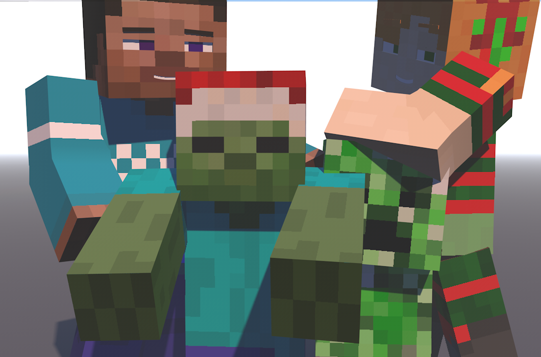 Merry Christmas From Minecraft Steve And Alex By
