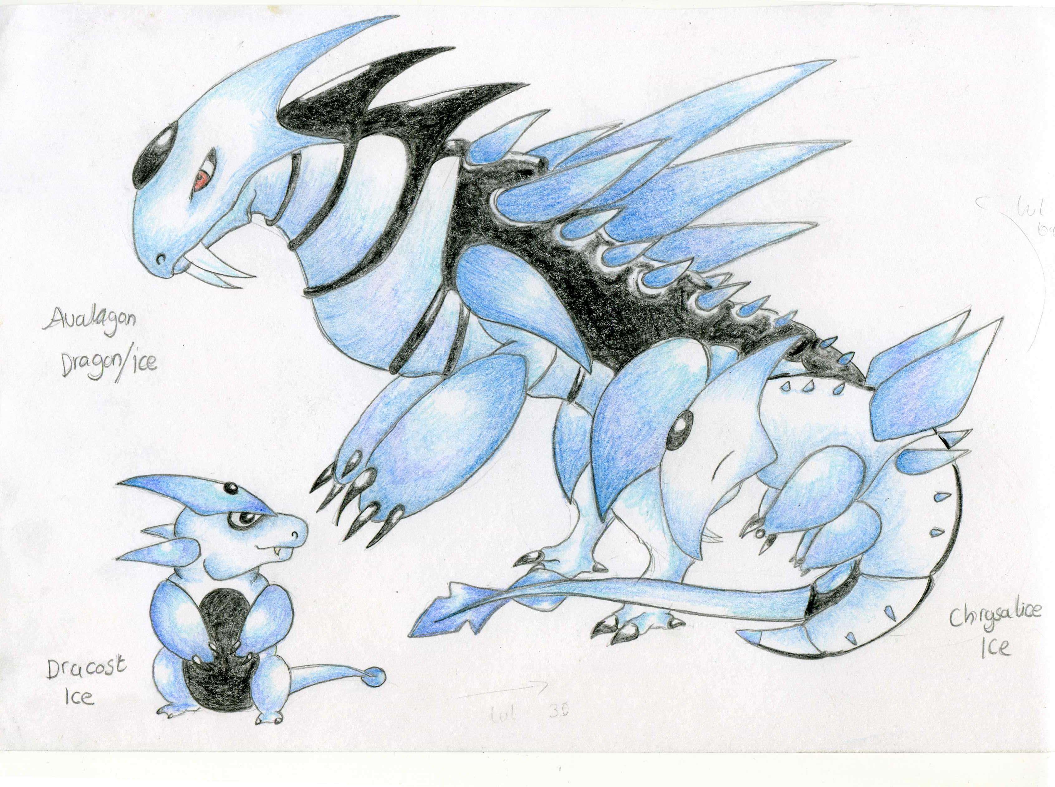 cool ice dragons drawings more information kopihijau