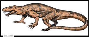 Megalania Cryptid by darkriddle1