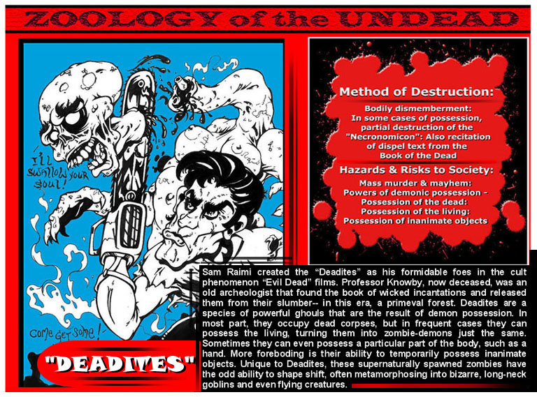 Zoology of the Undead Evil Dead page 1 by darkriddle1