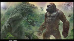 Godzilla VS Kong Lets Rumble