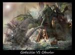 Godzilla VS Cthulu