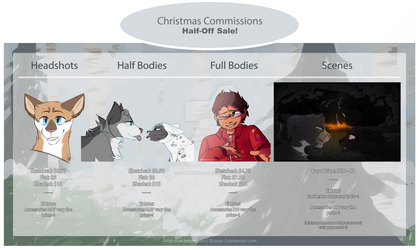 Christmas Commissions: HALF-OFF SALE by 0-Bluejay-0