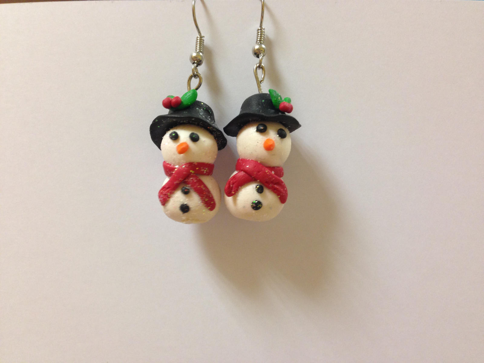 Handmade christmas earrings by aisling corcra on deviantart