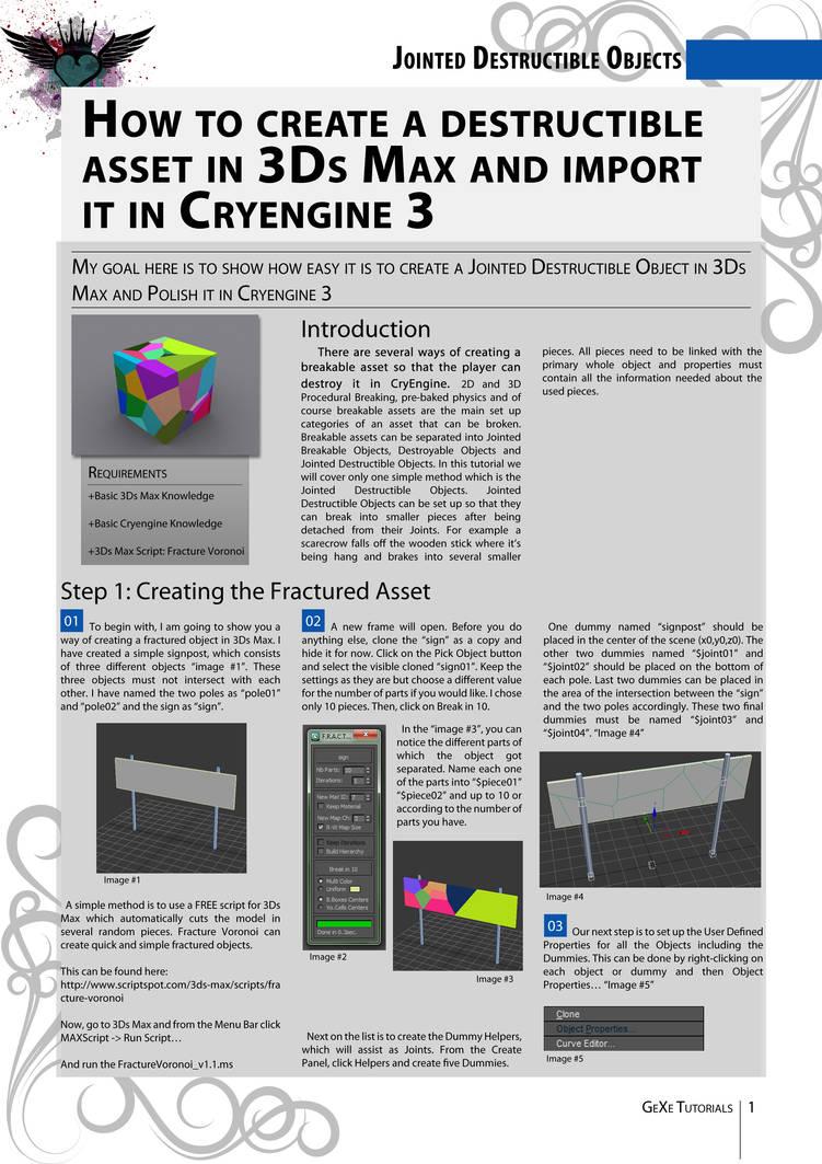Destructible Asset - 3Ds Max - CryENGINE pt 1 by Autocrator on