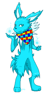 Aokin's True Colors (Autism Awareness) by Faolan-Wolfwings