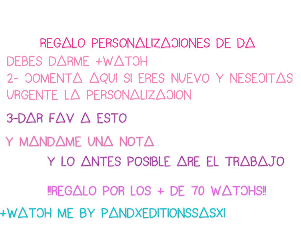 personalizacionDA Regalo por mas de 70 watchs by Sasxi