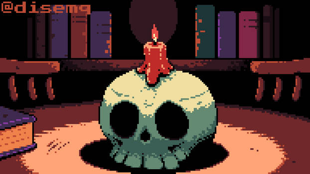 Skull with a Candle