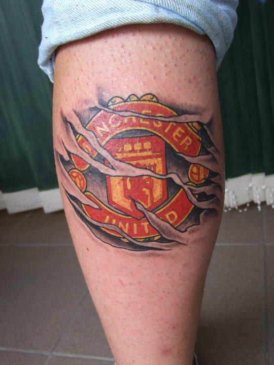 manchester united tattoo by kasbandi on deviantart. Black Bedroom Furniture Sets. Home Design Ideas