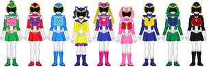Bishoujo Sentai Sailor Girls (full team) by Toshi-san