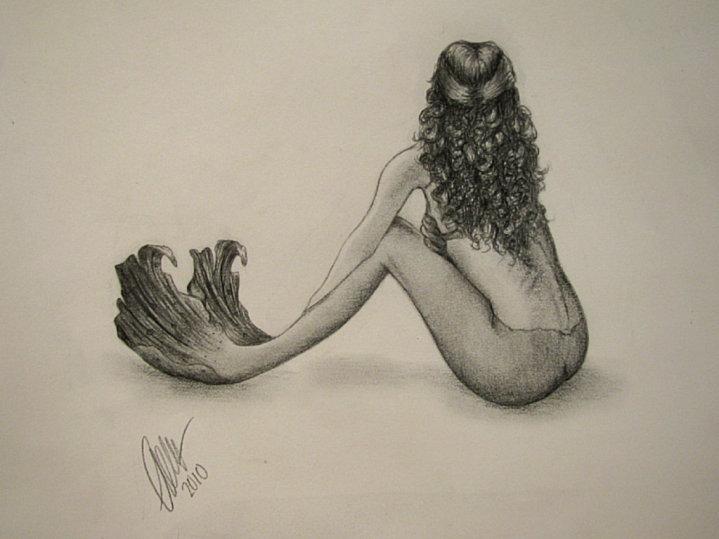 easy mermaids drawings - photo #2