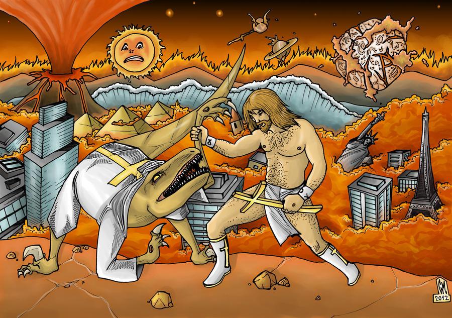 jesus vs raptor jesus by csmcomics on deviantart