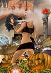 Pumpkin Witch by csmcomics