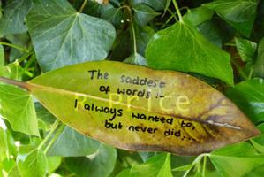 Saddest Of Words by Rhiallom