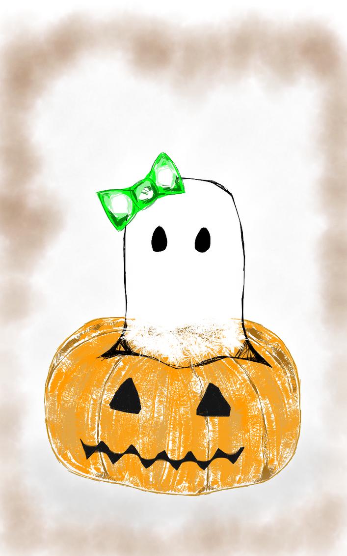 A Pumpkin Fit for a Ghost by Rhiallom