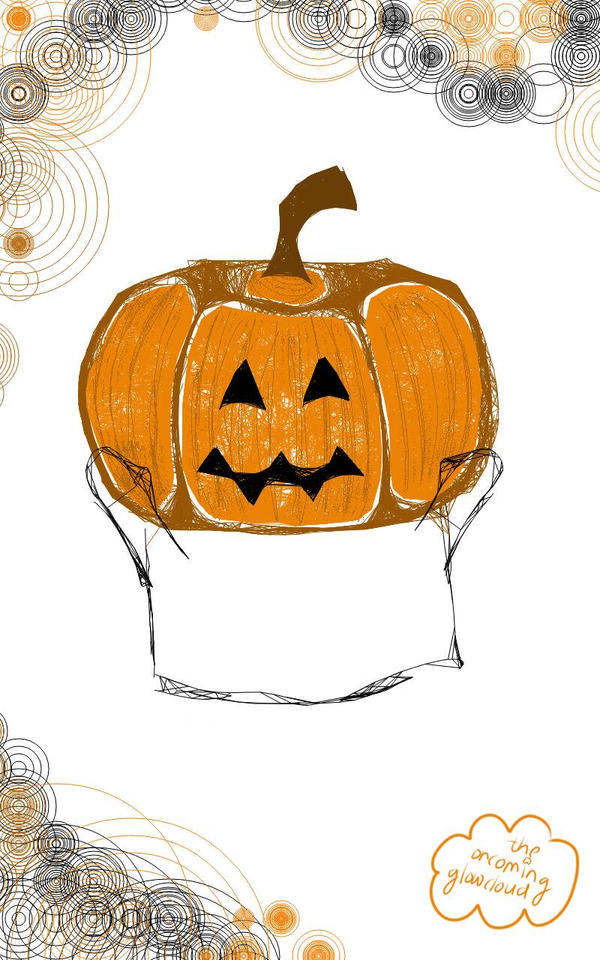 Drawlloween Day 6 - Pumpkin by Rhiallom