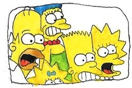 25th anniversary of The Simpsons by brazilianferalcat