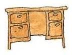 Desk by brazilianferalcat