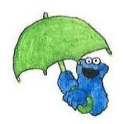Cookie Monster's Umbrella by brazilianferalcat