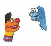 Ernie and Cookie Monster by brazilianferalcat