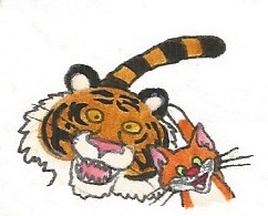 Cat and the tiger by brazilianferalcat