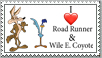 I love Road Runner and Wile E. Coyote Stamp