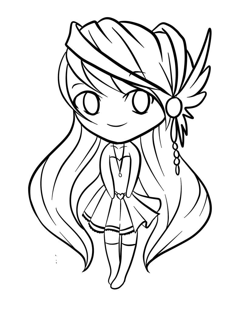 Lineart chibi jane by rueyumi on deviantart for Draw so cute coloring pages