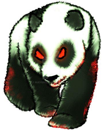 Zombie panda by RueYumi