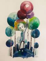 BALLOON by Wutherdollshadow