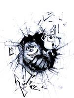Inktober2018 Day20: BREAKABLE (Monster inc fanart) by Wutherdollshadow